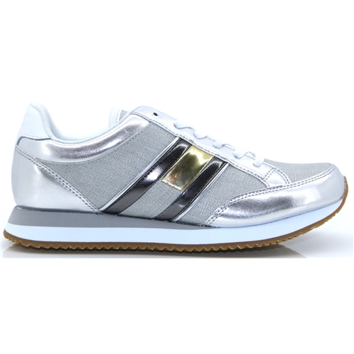 247f7649 WMN Casual Retro Sneaker - Tommy Hilfiger SILVER TRAINERS