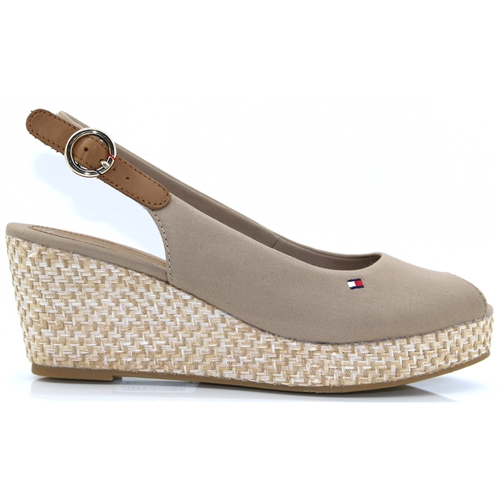 7f9ac439c Elba Basic Sling Back - Tommy Hilfiger COBBLESTONE MID HEIGHT WEDGES