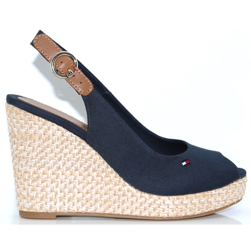 81a63e173 Elena Basic Sling Back - Tommy Hilfiger MIDNIGHT WEDGES
