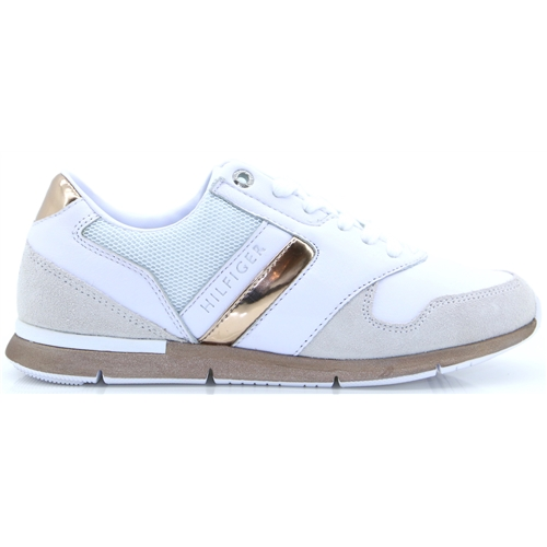 Iridescent Light Sneaker - Tommy Hilfiger WHITE AND ROSE GOLD TRAINERS