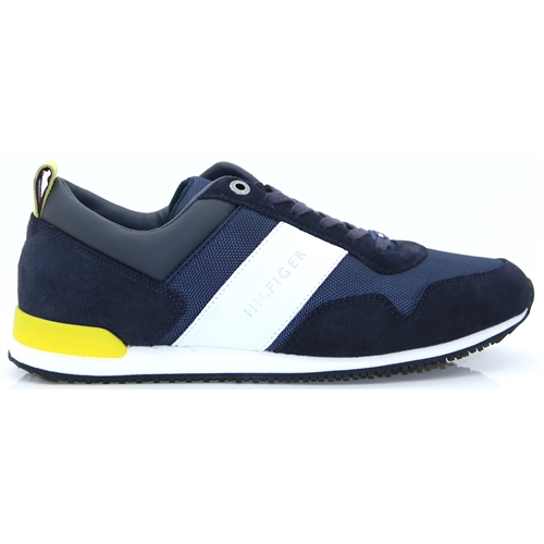 72820fa30c6d Iconic Material Mix Runner - Tommy Hilfiger NAVY AND YELLOW TRAINERS