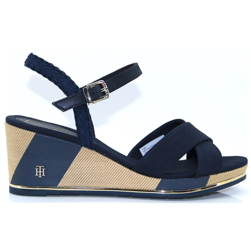 5d0072d54 Printed Mid Wedge - Tommy Hilfiger MIDNIGHT WEDGES