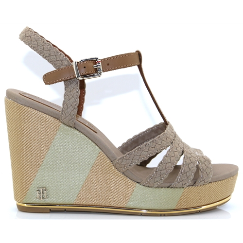 b8e90075f Printed Wedge Sandal - Tommy Hilfiger COBBLESTONE WEDGES