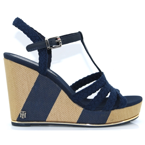 6094a5f21f5f92 Printed Wedge Sandal - Tommy Hilfiger MIDNIGHT WEDGES