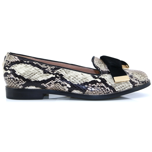 Astrella - MODA IN PELLE NATURAL SNAKE PRINT SHOES