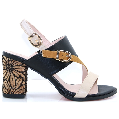 b49ef7393 Frome - KATE APPLEBY BLACK MIX HEELS