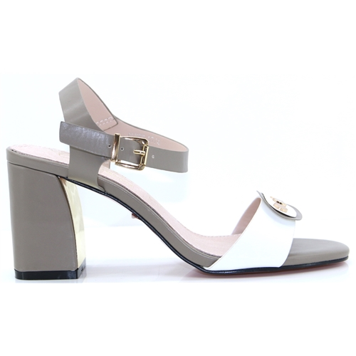 8909821a22e6 Olney - KATE APPLEBY TAUPE AND WHITE HEELS