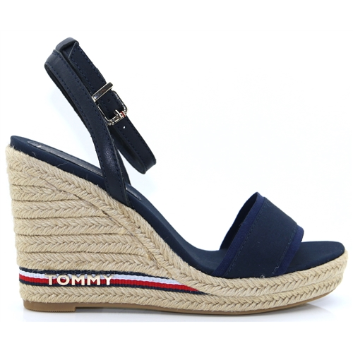 f0ce59115 Iconic Elena Corp.Ribbon - Tommy Hilfiger MIDNIGHT WEDGES