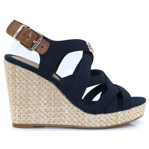 e6c606177 Iconic Elena Sandal Hardware - Tommy Hilfiger MIDNIGHT WEDGES