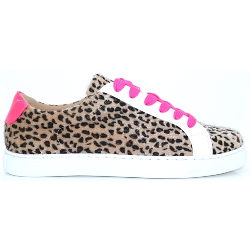 bfcd93ce6 BK1965 - VANESSA WU LEOPARD PRINT AND PINK TRAINERS