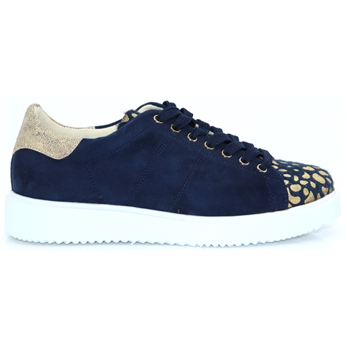 1831c7e73 BK1678 - VANESSA WU NAVY AND GOLD TRAINERS