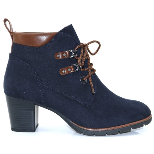 f2789a0af4 25121-33 - MARCO TOZZI NAVY COMB. ANKLE BOOTS