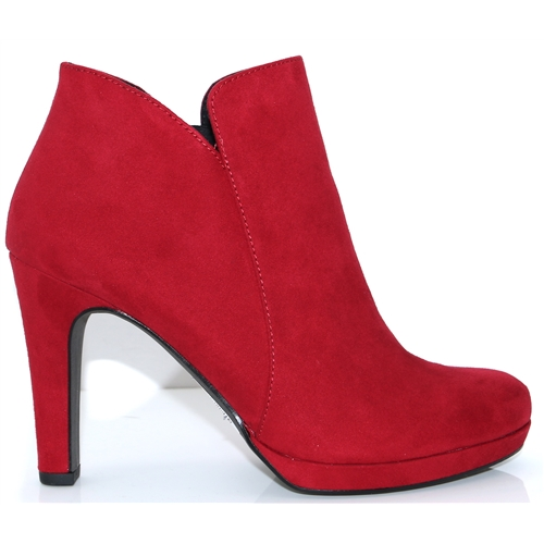 124144fdd282 25316-23 - TAMARIS RED ANKLE BOOTS