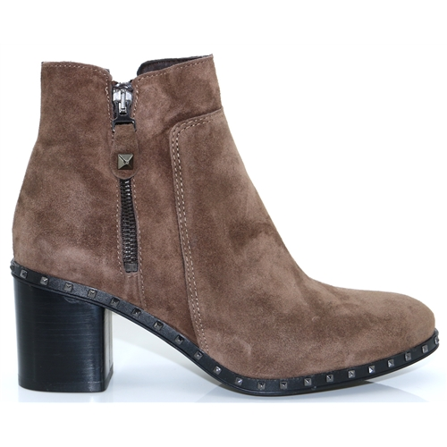 4347 - ALPE TAUPE SUEDE ANKLE BOOTS