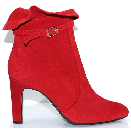 18513 - UNICA RED ANKLE BOOTS