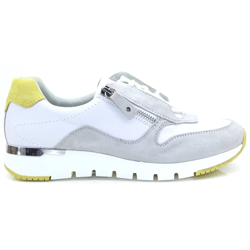 23706-24 - Caprice White and Grey Trainers