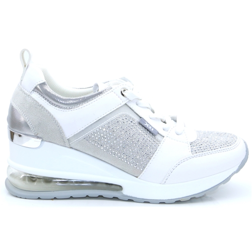 44075 - Xti Silver Wedge Trainers