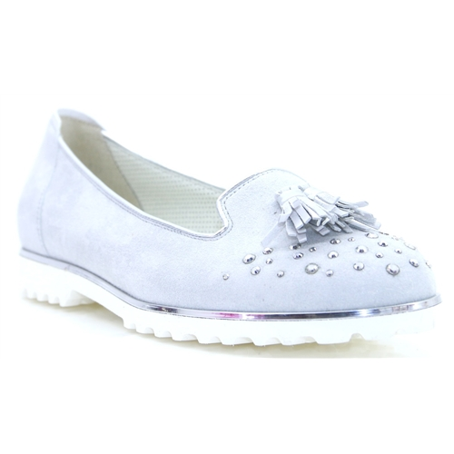 63.103 GABOR Ice Light Grey Loafers