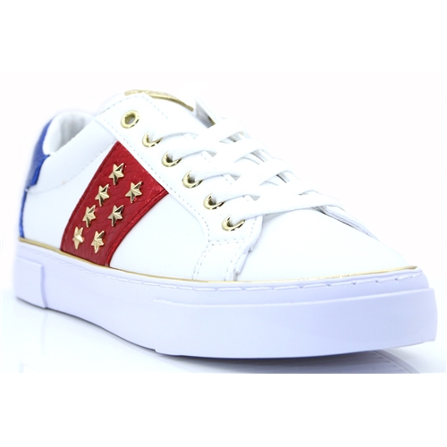 FLGAM1 ELE12 - GUESS WHITE AND RED TRAINERS