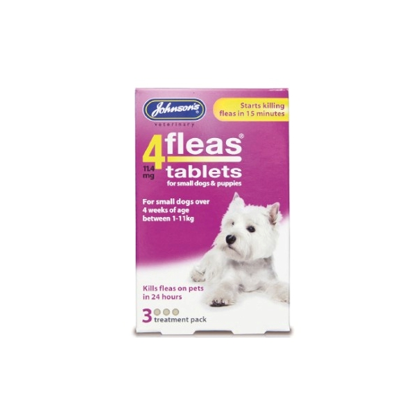 Johnsons 4 Fleas Small Dog & Puppy Flea Tablets