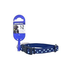 Ancol Small Blue Polka Dot Collar