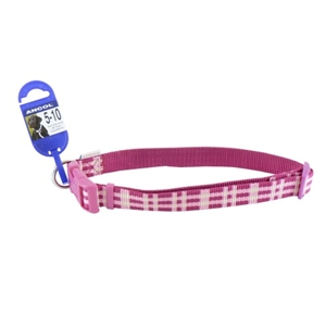 Ancol Large Candy Pink Check Collar
