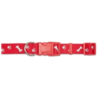 Ancol Medium Red Paw N Bone Reflector Collar