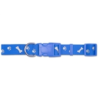 Ancol Large Blue Paw N Bone Reflector Collar