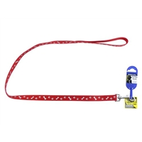 Ancol Red Paw N Bone Reflector Lead