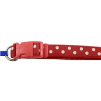 Ancol Medium Red Polka Dot Collar