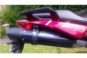 SHIVER 750 Exhaust - Furore Carbon Look