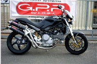 MONSTER S4R Exhaust - FULL SYSTEM Carbon Round