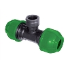 25MM GREEN FEMALE TEE COUPLING, rA215025012