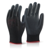 PU COATED GLOVE BLACK LARGE, BTPUGBLL