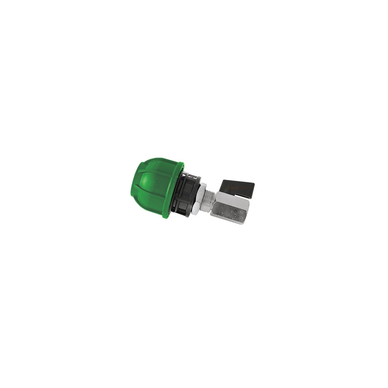 40MM X 1/4 BSP GREEN END CAP, rA249040114