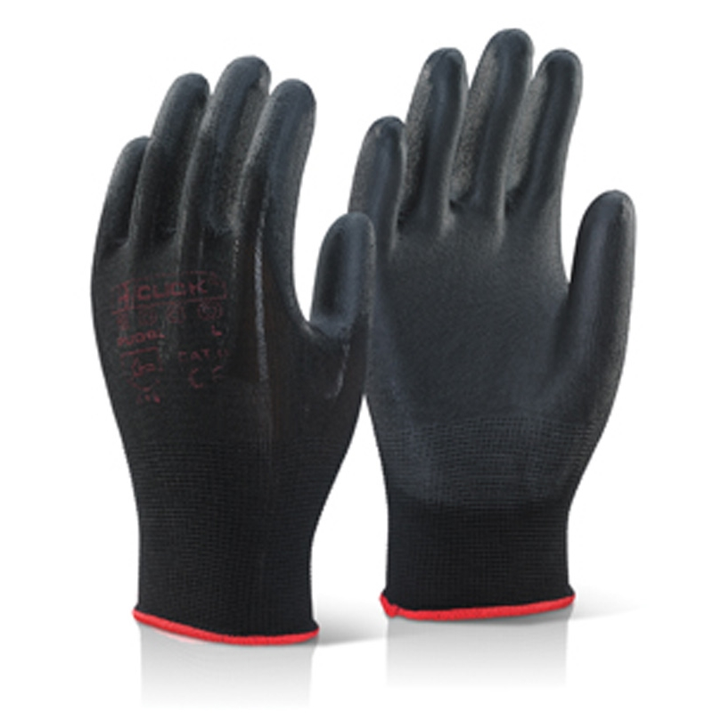 PU COATED GLOVE BLACK XL, BTPUGBLXL