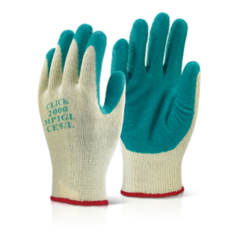 M/P GREEN LATEX P/C GLOVE M, BTMP1GM