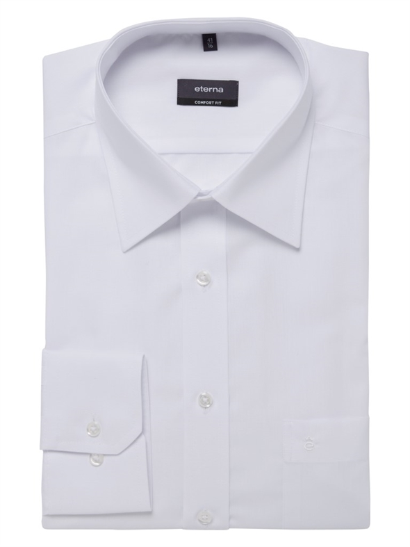 Eterna Plain White Business Shirt 1100-00