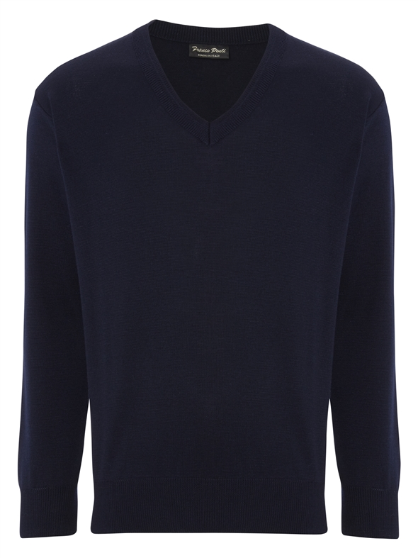 Franco Ponti Damson V Navy Sweater