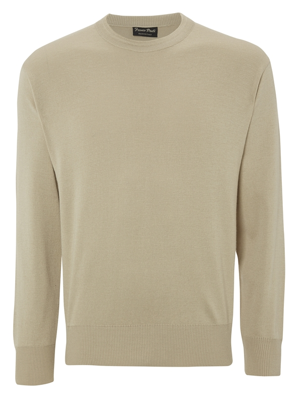 Franco Ponti  Round Neck Tan Sweater