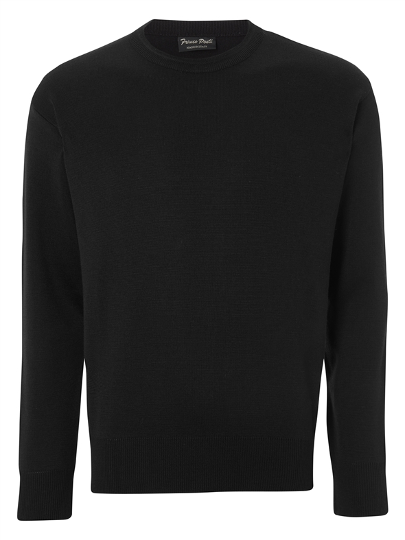 Franco Ponti  Round Neck Black Sweater