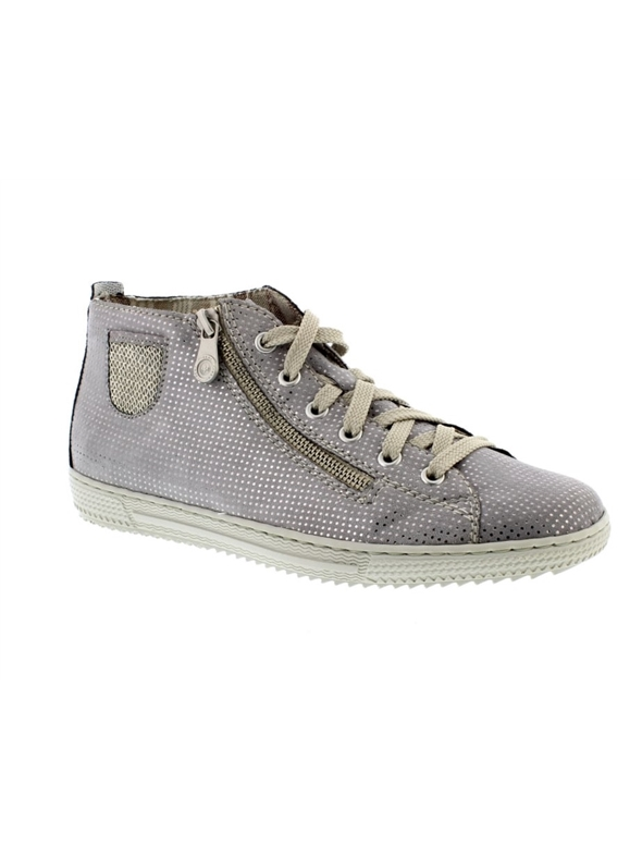 Rieker L9402-42 Ladies Grey Ladies High-top Trainer