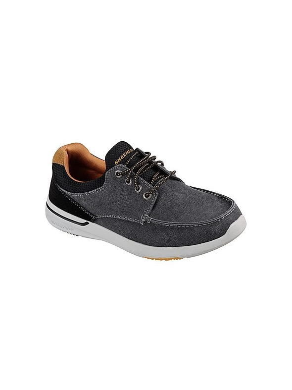 Skechers Mens Relaxed Fit: Elent - Mosen Black Trainer 65493