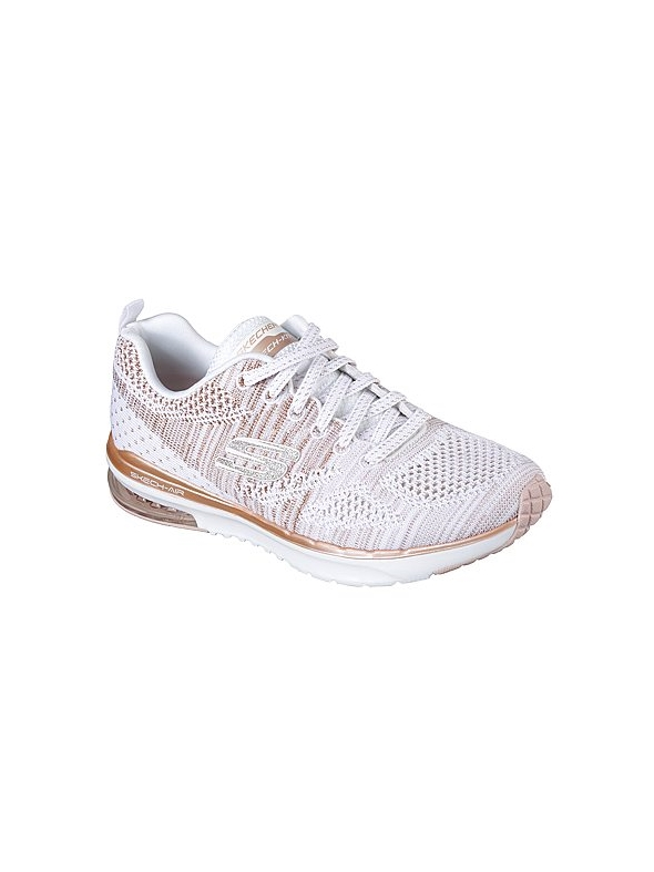 Skechers Ladies Air Infinity- Stand White Rose Trainer 12114