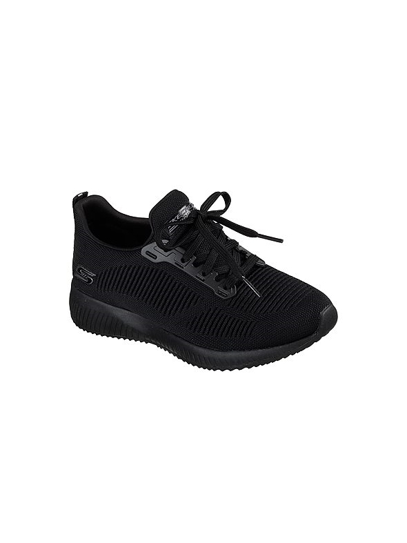 Skechers Ladies Bobs Squad - Photo Frame Black Trainer 31362
