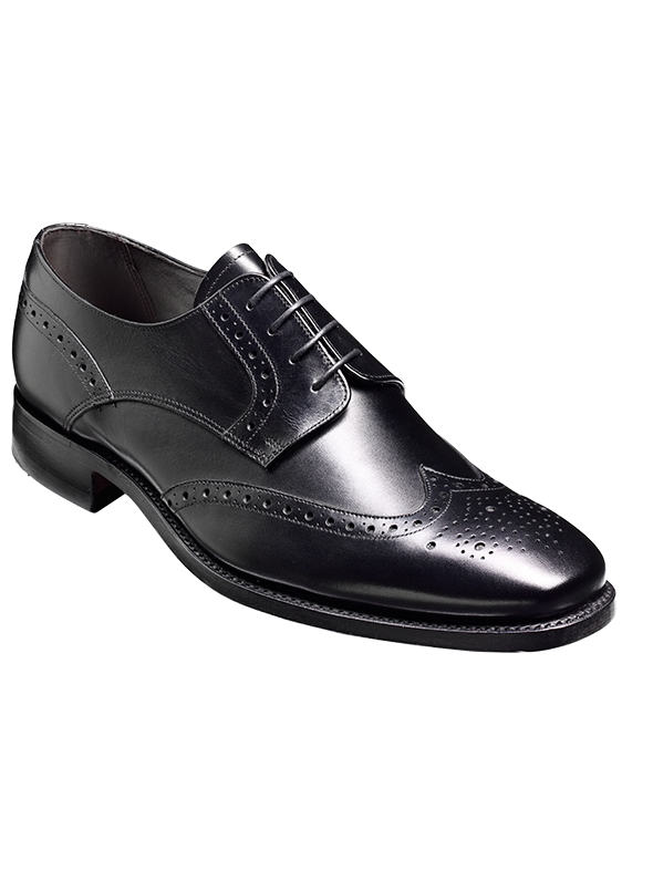 Barker Toddington Black Brogue Shoe