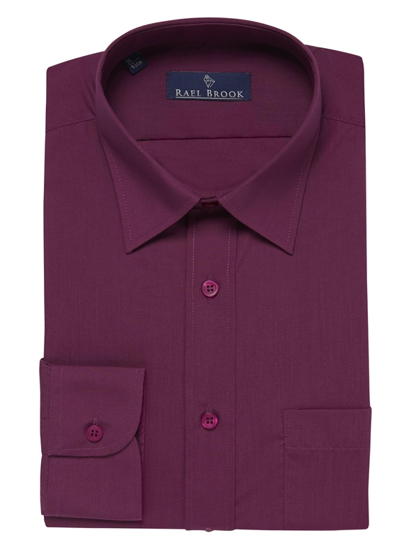 Rael Brook Plain Damson Shirt
