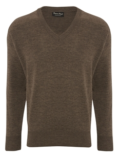 Franco Ponti Damson V Brown Sweater