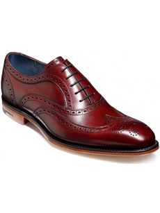 Barker Jensen Cherry Brogue Shoe