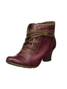 Mustang 1156-601-55 Womens Dark Bordeaux Ankle Boots